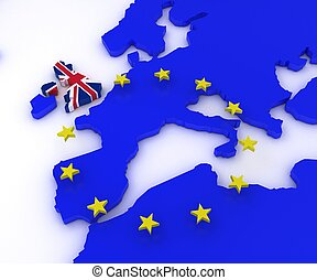 EU Referendum - 3D Render of EU Referendum