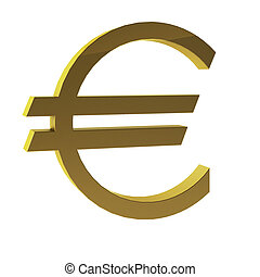 3d render of euro sign