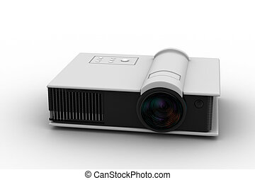 3d render of Full HD projector