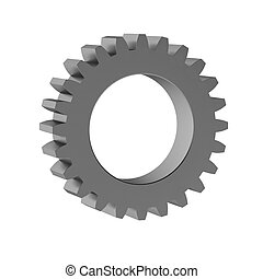 3d render of gear
