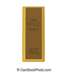 3d render of golden bar