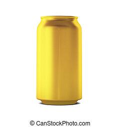 3d render of golden can