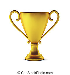 3d render of golden cup