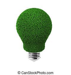 3d render of grass bulb