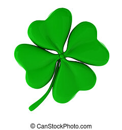 3d render of green clover