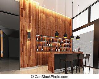 3d render of lobby - sketch design of lobby ,3dwire frame...