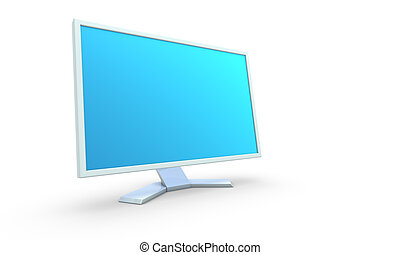 3d render of monitor on white background