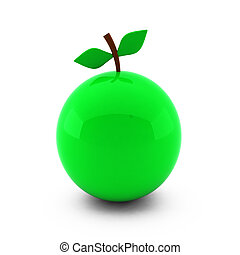 3d render of nice apple isolated on white