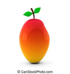 3d render of nice mango isolated on white