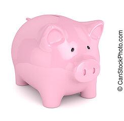 3d render of piggy bank over white - 3d render of piggy bank...