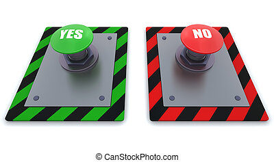 push button - 3d render of push button with symbol