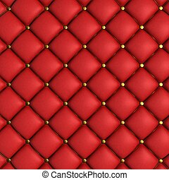 Quilted Leather Background - 3D Render of Quilted Leather...