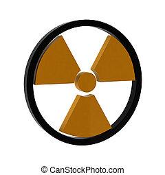3d render of radiation sign