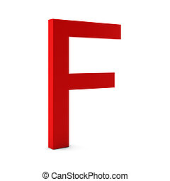 3d render of red letter isolated on white