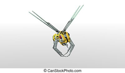 robot wasp - 3d render of robot wasp