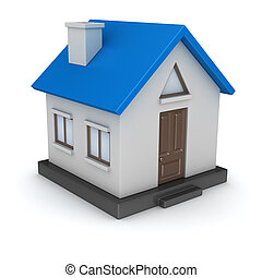 3d render of small house