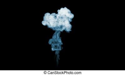 3d render of smoke in slow motion isolated on black...