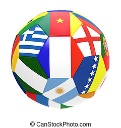 3D render of soccer football on white background