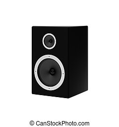 3d render of speaker on white