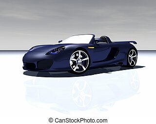 sports car - 3d render of sports car