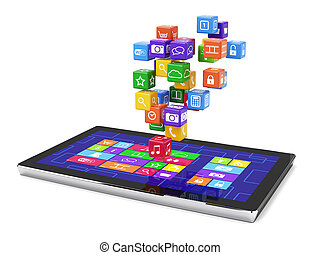 tablet pc media concept isolated