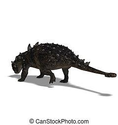 Euoplocephalus - 3D Render of the dinosaur Euoplocephalus...