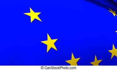 European Union Flag - 3d Render of the European Union Flag
