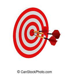 3d render of three darts