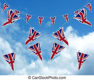 Union Jack Bunting and Banners - 3D render of Union Jack...