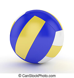 3d render of volleyball isolated on white