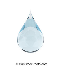 3d render of water drop