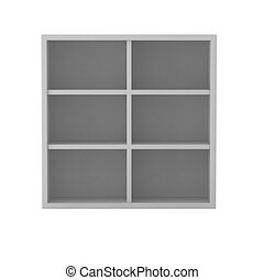 3d render of white shelf