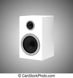 3d render of white speaker