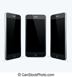 3D render of your Smartphone on a white background