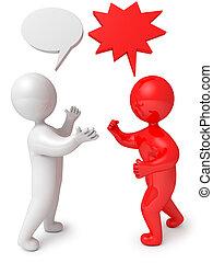 3d render people dialog debate