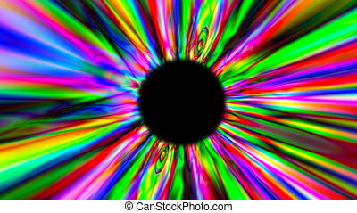 3d render psychedelic multicolor tunnel. Digital background...