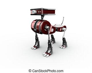 3d render robot