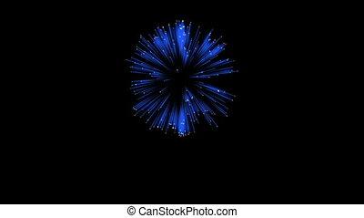 3D Render. Single Firework ball. Computer Graphic. Firework Display. Ver. 8
