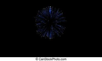 3D Render. Single Firework ball. Computer Graphic. Firework Display. Ver. 4