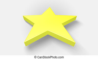 3D render star on white background