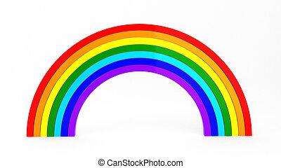 3d, render, van, regenboog