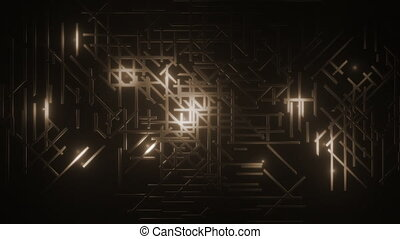 3d rendered animated background texture. Labyrinth maze. Sepia tone
