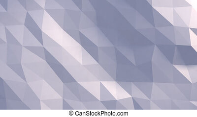 3D rendered animated low-res polygon light blue background....