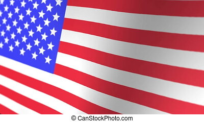 3D Rendered Animated United States