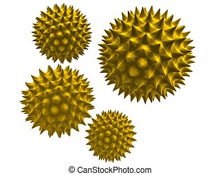 3d rendered close up of some isolated pollen