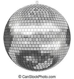 Disco Mirrorball - 3D rendered Disco Mirrorball on white...
