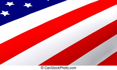 3D Rendered Flag of the United States