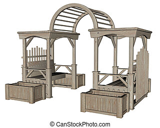 3d rendered garden furniture