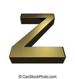 Wire outline font letter z 3d rendering illustration stock 3d rendered golden font letter z spiritdancerdesigns Image collections