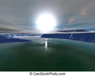 3D rendered Illustration of a Alien World